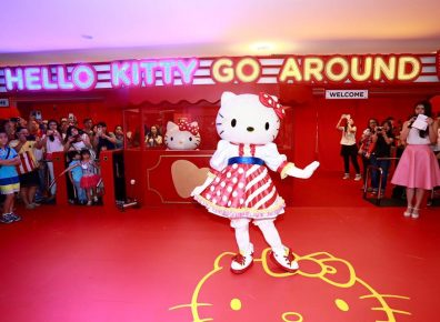 Hello Kitty's classic sway to welcome visitors