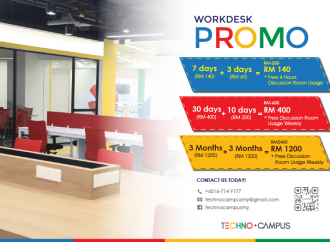 Techno Campus Work Desk Promo
